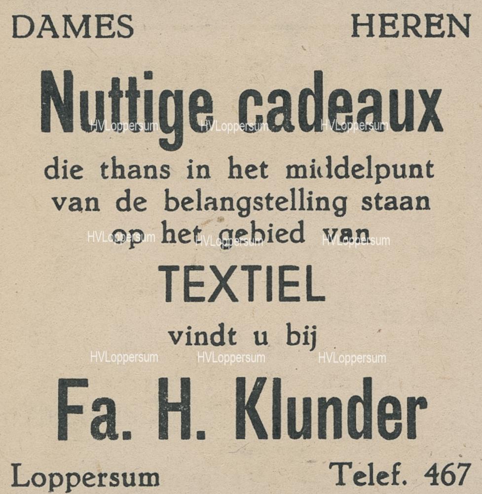 Manufacturen H.Klunder