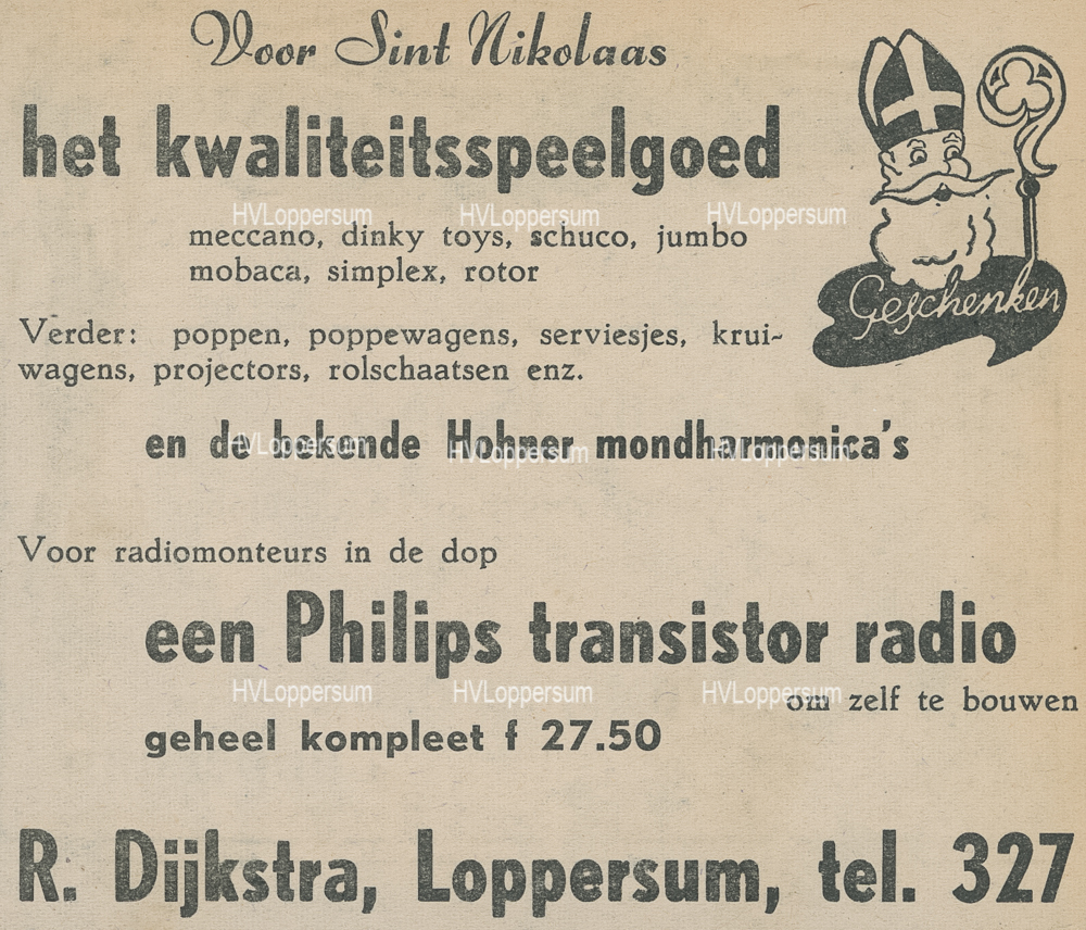 Fa. R.Dijkstra Electra, Radio & TV Hoogstraat A2