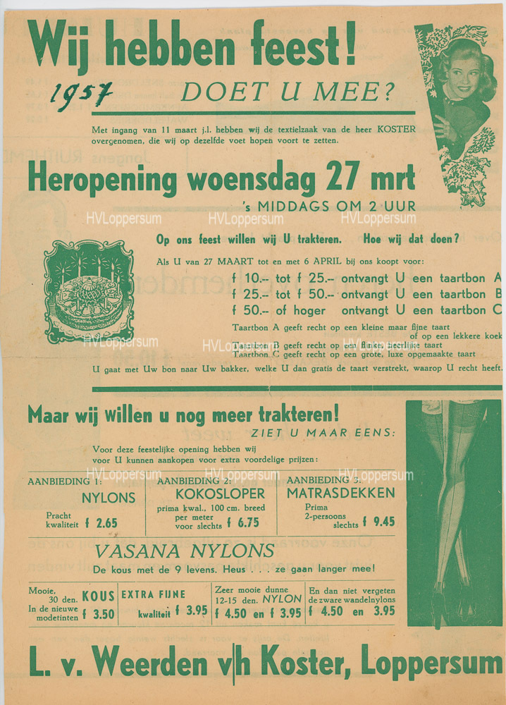 Heropening in 1957