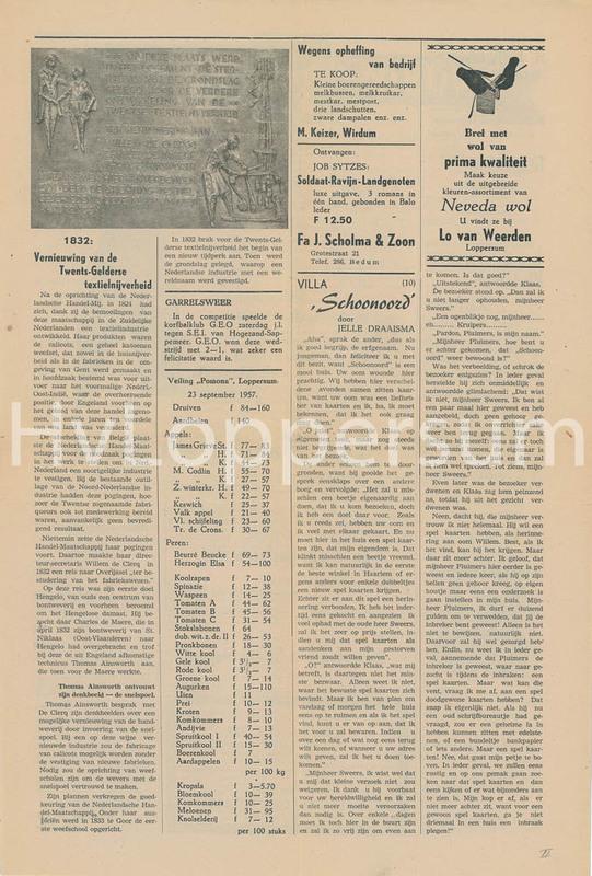 Lopsternieuws van 26-08-1957