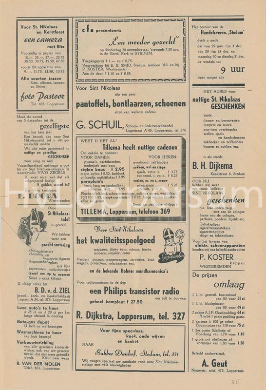 Lopsternieuws van 21-11-1957