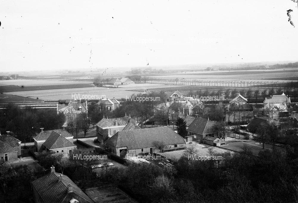 Luchtfoto's vanuit de toren.