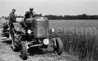 Oogsten met de tractor