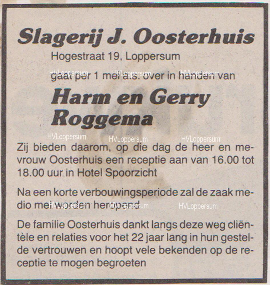 Slagerij Harm Roggema