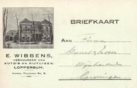 Briefkaart van E.Wibbens