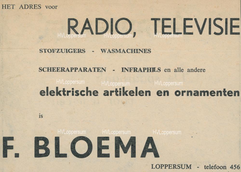 Fa. F. Bloema Electra & Radio